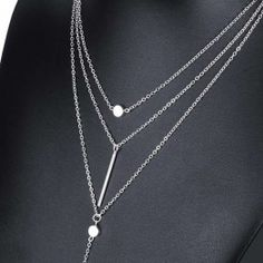 TOMTOSH Women's 3 Multi Layer Necklace For Women