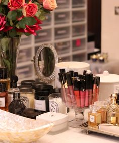 Huda Kattan Beauty Blogger - Best Makeup Products Tips   Take an exclusive look inside beauty blogger Huda Kattan's makeup closet and learn which products she can't live without. #refinery29 http://www.refinery29.com/huda-kattan-makeup-products-advice