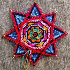 """Mandala """"stella rossa"""" - ojo de dios"""