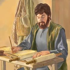 An ancient skilled copyist at work