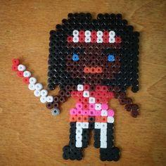 Michonne - The Walking Dead hama beads by toni__bcn