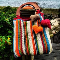 The Nantucket Beach Bag ~ crochet inspiration no pattern