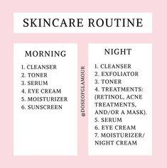 Skin Care Routine Steps, Skin Routine, Morning Skincare Routine, Facial Routine Skincare, Skincare Blog, Image Skincare, Skin Tips, Skin Care Tips, Haut Routine