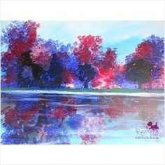 Peacefull Reflection canvas painting gifts ideas present idea home decoration on eBid United States