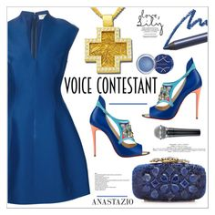 """Anastazio-TV Fashion: The Voice"" by anastazio-kotsopoulos ❤ liked on Polyvore featuring Halston Heritage, Anastazio and Elizabeth Arden"