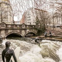 Surfers in Munich