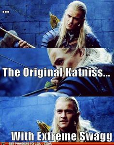 Hunger Games doesn't hold a candle to Lord of the Rings.  Legolas, Haldir, and Kili are better archers.