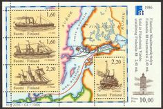 Finlandia 88, postal steam ships souvenir sheet II first day cancellation - Click Image to Close