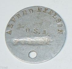World War 1 WWI Dogtag Dog Tag Dog Tags Military, World War One, Pet Accessories, Wwi, Warfare, Trench, Magazines, Weapons, Angels