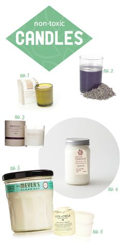 Soy Candles   Natural Candles // 1. Love Nature NYC Supersoul // 2. Red Flower French Lavender // 3. SpaRitual Candle // 4. Good Candle Mimosa // // 5. Mrs. Meyers Clean Day Basil Candle // 6. Lite Cycle Bergamot Candle