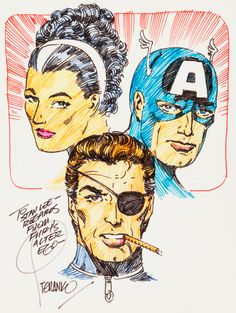 The Countess, Captain America & Nick Fury - art by Jim Steranko - Marvel Comics Marvel Comics, Marvel Comic Books, Marvel Heroes, Comic Books Art, Comic Art, Nick Fury, Jim Steranko, Comic Book Panels, Super Soldier