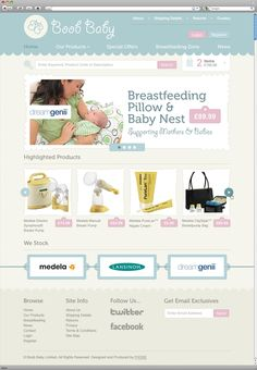 BoobBaby - Site supplying breastfeeding equipment and accessories.