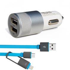Xiaomi redmi note 2 3 premier USB Chargeur De Voiture, avec USB Données Câble En Aluminium De Voiture-Chargeur Pour Xiaomi Mi4 Mi4i Mi4C Et Autres Téléphones