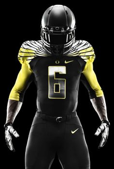 2014 Oregon Ducks Black and Yellow Nike Mach Speed Uniform College Football  Uniforms 0404dad7e
