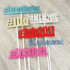 Photo Booth HASHTAG on a STICK for by YourHappilyEverAfter on Etsy