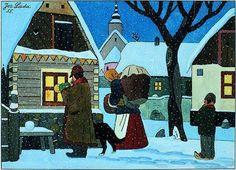 Czech Christmas by Josef Lada