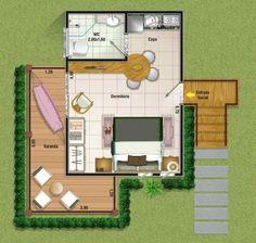 Plano de cabaña pequeña Tree House Plans, Small House Plans, Small Space Living, Small Spaces, Bungalow, Mini Loft, Tiny House Loft, Apartment Layout, Home Design Plans