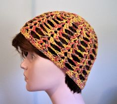 Summer Beanie, Cool, Comfortable Open Mesh, Women Summer Sun Hat Lace Skull Cap Chemo Hat Cotton Blend Tam, Crochet Hat by pinoakstudiotoo on Etsy