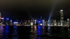 Lichtershow, täglich um 20 Uhr, auf der Tsim Sha Tsui Promenade, Hong Kong