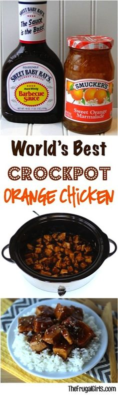 ~ from {this crockpot orange chicken recipe is so easy. and SO delicious! Go grab your Slow Cooker! ~ from {this crockpot orange chicken recipe is so easy. and SO delicious! Go grab your Slow Cooker! Crock Pot Food, Crockpot Dishes, Crockpot Meals, Crock Pots, Freezer Meals, Easy Meals, Inexpensive Meals, Frugal Meals, Tacos Crockpot