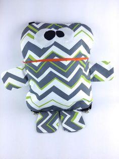 Robot Backpack, Creature Backpack, Toddler Backpack, Children's Backpack, Chevron Backpack by MattieSews on Etsy https://www.etsy.com/listing/210958836/robot-backpack-creature-backpack-toddler