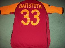 2002 2003 Roma CL Batistuta Home Football Shirt Adults Large Maglia Classic  Football Shirts 2416f6502