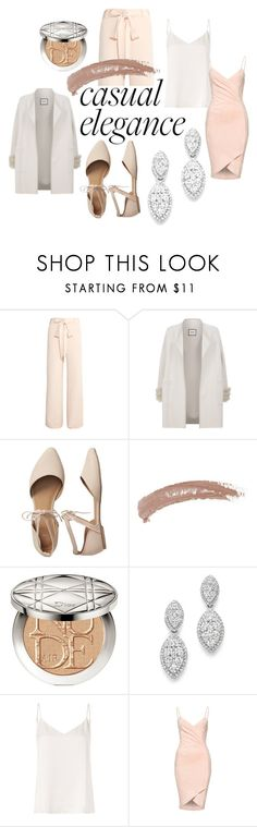 """""""Casual Elegance"""" by amy-glover-2 ❤ liked on Polyvore featuring Juan Carlos Obando, Max & Moi, Gap, Topshop, Christian Dior, Bloomingdale's and L'Agence"""