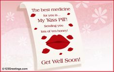 Cute Get Well Soon Messages | sweet 'Get Well Soon' ecard for your sweetheart.