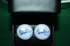 Handcrafted Cuff Links - Steam Whistle Pilsner Beer Cap with 24 ct Gold Plated Knurled Posts by Witmer Enterprises, $15.00 at witmerenterprises.com and also @Etsy