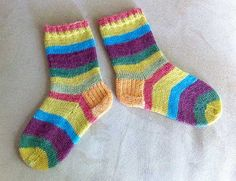 My First Knitted Socks for Edmund