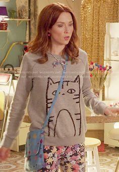WornOnTV: Kimmy's sequin cat sweatshirt on Unbreakable Kimmy Schmidt | Ellie Kemper | Clothes and Wardrobe from TV