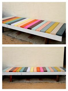 """We had a ton of leftover paint samples and so we decided to put them to good use.."""