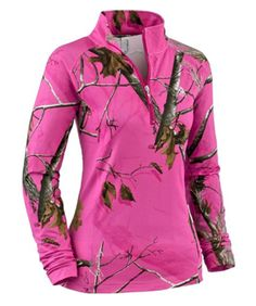 Hot pink realtree camo pullover