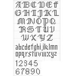Couture Small ABC Chart ... free cross stitch pattern
