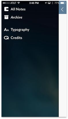 Adapting UI to iOS 7: The Side Menu   UX Magazine
