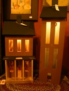 Lighted Saltbox Houses