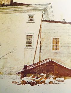 Andrew Wyeth (1917 — 2009, USA) At the Kuerners Farm. watercolor.