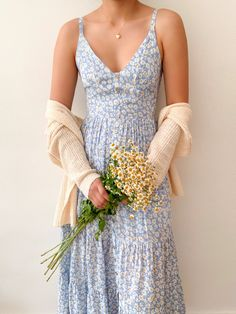 Cute Dresses, Casual Dresses, Summer Dresses, Cute Simple Dresses, Casual Clothes, Dress With Cardigan, Dress Up, Dress Outfits, Fashion Outfits