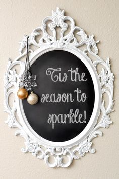 Christmas Decorating Ideas: Holiday Chalkboard Messages -- Monica Wants It