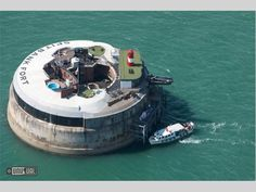 Spitbank Fort in the Solent near Portsmouth was Fortress converted to a luxury private island and hotel.