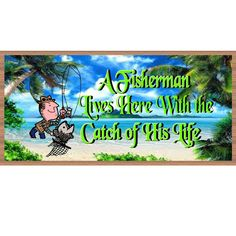 Wood Signs - Handmade Wood Sign Fisherman - GS2228 - Fishing Primitive wood sign - Fishing plaque