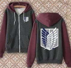 Manga Cosplay Anime Jacket Sweatshirt Cosplay Hoodie Attack on Titan Hooded S,M,L , Kawaii Fashion, Cute Fashion, Fashion Outfits, Anime Jacket, Anime Outfits, Cool Outfits, Vetements Shoes, Mode Geek, Workout Shirts
