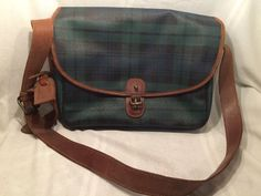 2b4ff751f8bf Vintage Polo Ralph Lauren Plaid Crossbody Shoulder Messenger Bag Purse  See  Desc