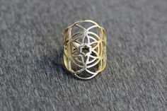 Flower of Life Gold Ring of Sacred Geometry and by TzufitMoshel, $86.00