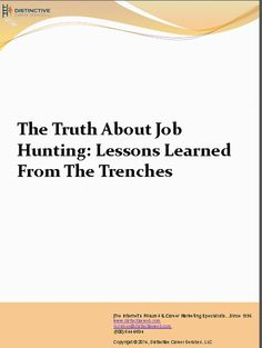 Download this PDF to learn effective #jobsearch techniques to help you with your #jobhunting strategy now.