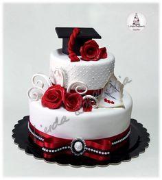 Elegant graduation cake, cake pops and cookies