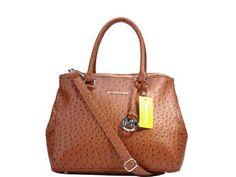 Michael Kors Brown Lychee leather bag