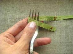 Creative Ideas - DIY Satin Ribbon Bow with a Fork 1