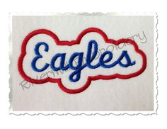 $2.95Applique Eagles Team Name Machine Embroidery Design