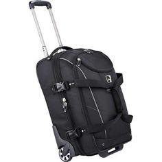 New High Sierra Elite Expandable Carry-On Wheeled Black Duffel Bag 351ab2c6c95b5
